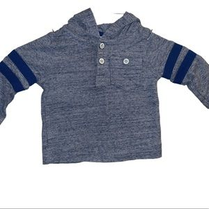 Gymboree • Blue & Baby Blue Pullover Hoodie   6Mo